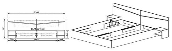 Спалня Сити 2007 - схема