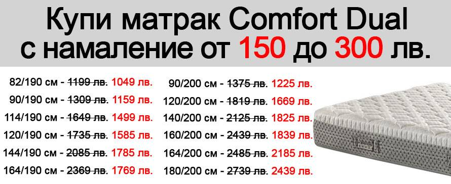 Матрак Comfort Dual - Промоция 300 лв.