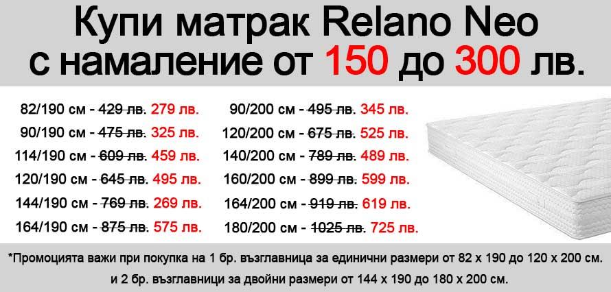 Матрак Relano Neo - промо