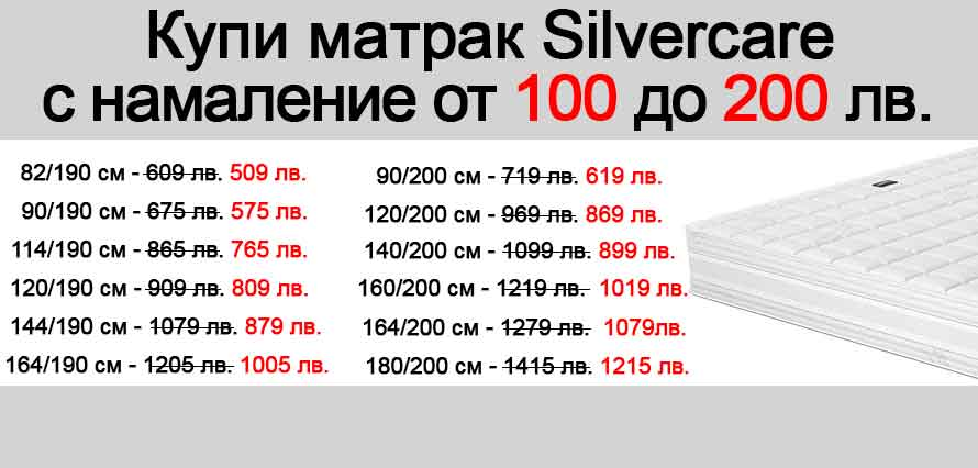 Матрак Silcercare - пром 100/200