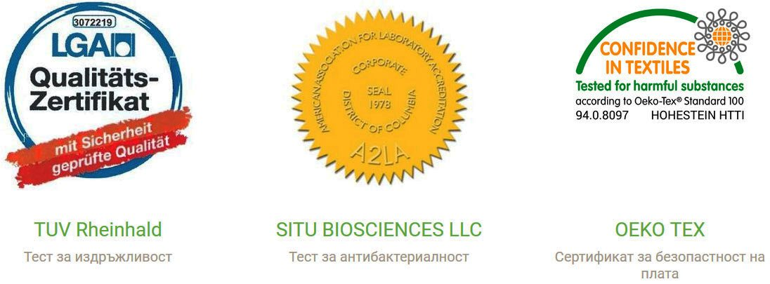 Топ матрак StepIn2Nature - сертификати