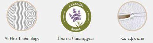 Топ матрак Lavender Massage - характеристики