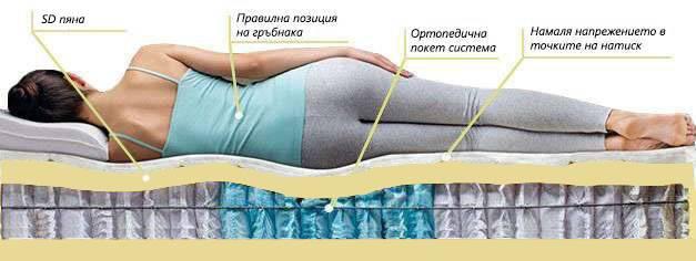 Двулицев матрак Grey King - позиция за сън