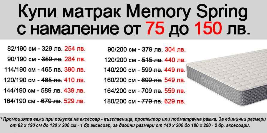 Матрак Memory Spring - промо