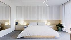 Минималистична спалня - снимка